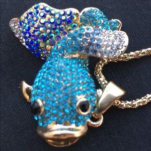 🐬Something Fishy Betsy Johnson Necklace
